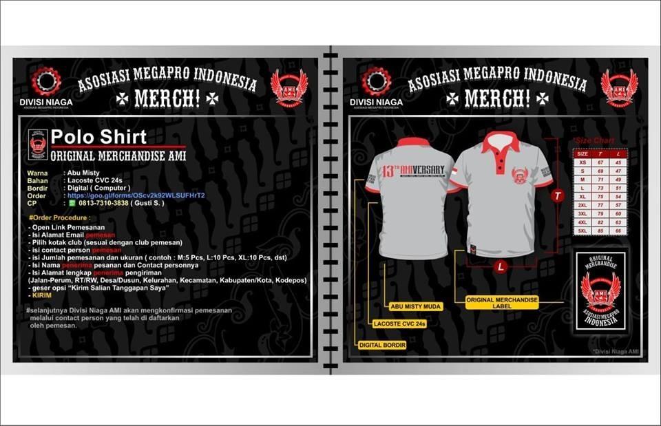Original Merchandise 13 Tahun Asosiasi Megapro Indonesia